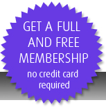 Get a full and free membership - no credit card required